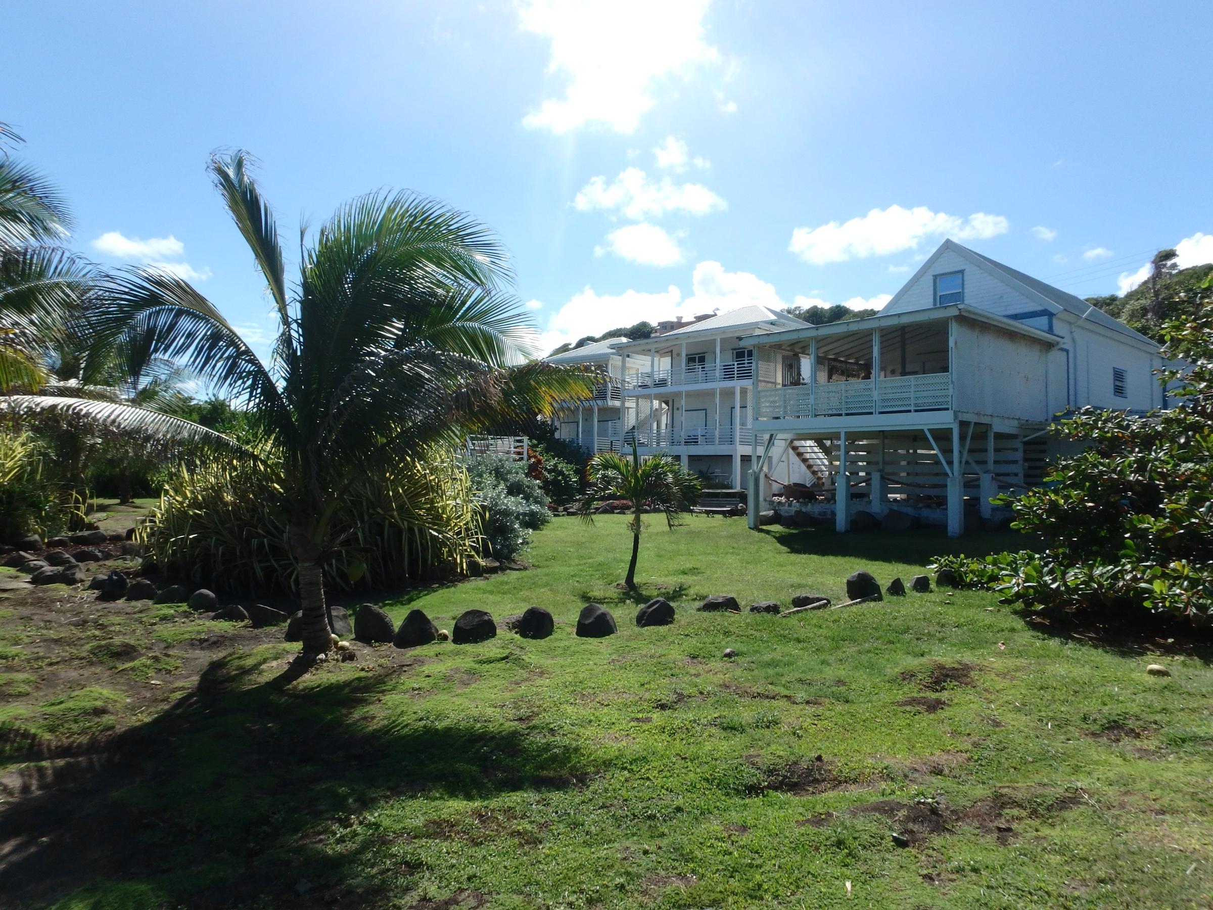 Moonfish Grenada view from front corner garden